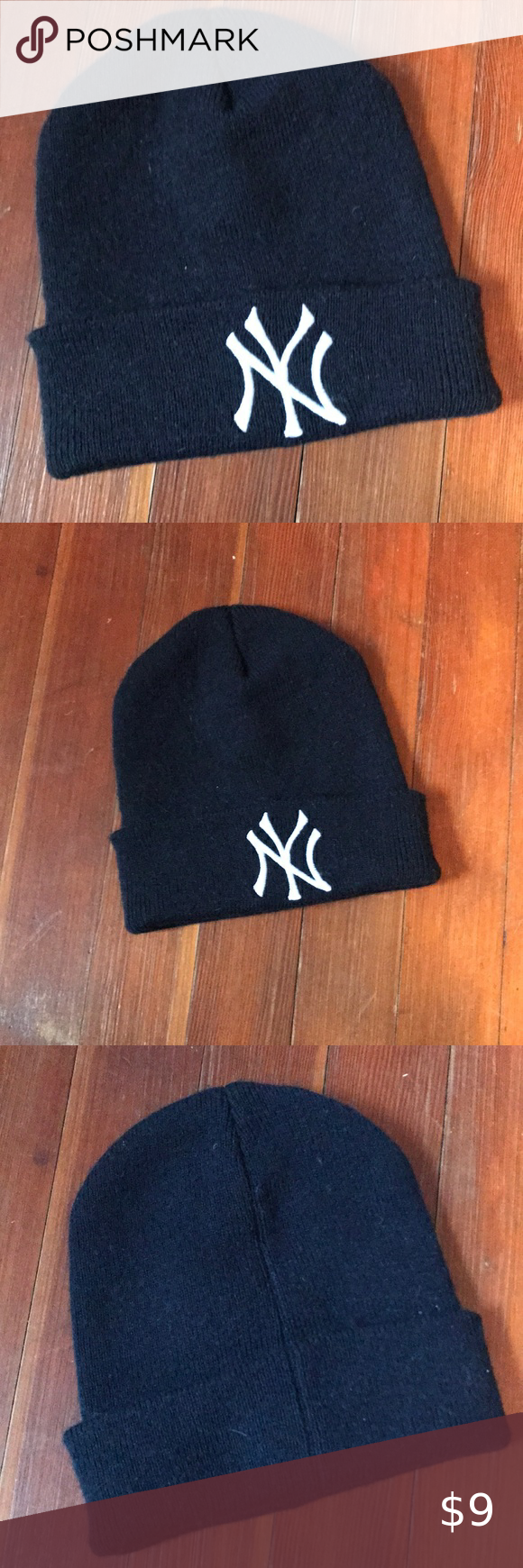 Navy Blue New York Yankees Beanie Hat Beanie Hats Blue Beanie Beanie