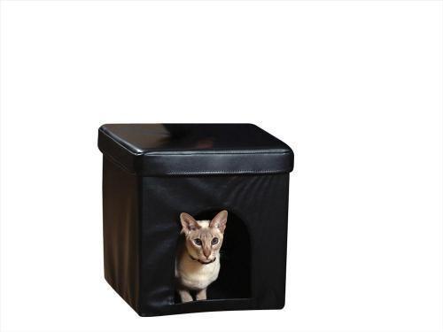 Casetta nascondiglio per gatti sgabello arredamento