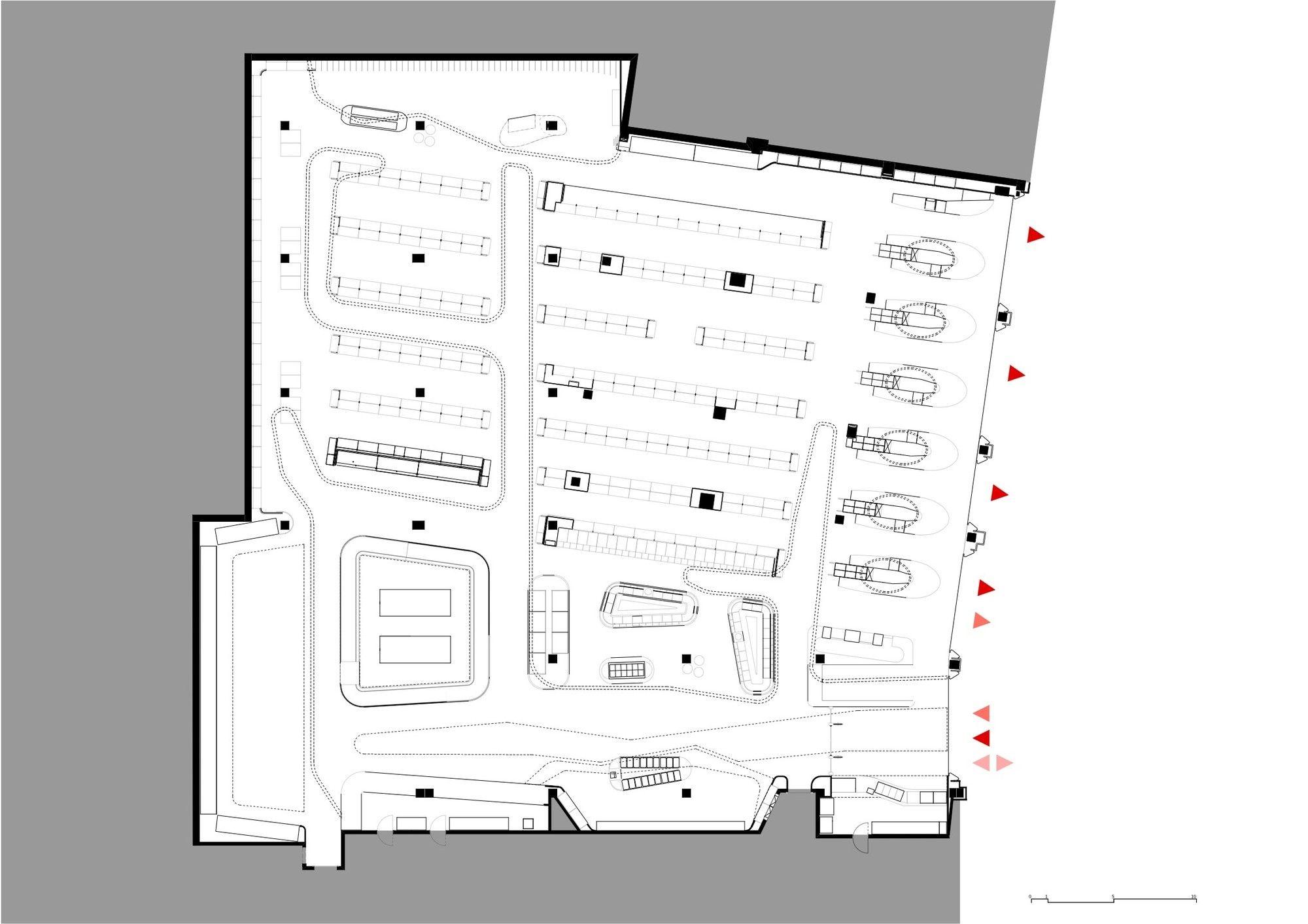 Gallery Spar Flagshipstore Lab5 Architects 16 Ground Floor Plan Budapest Architect