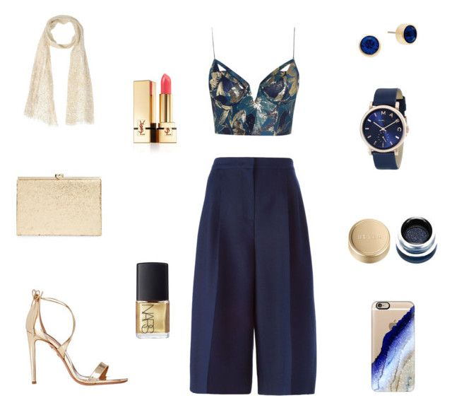 """Sapphire"" by lucija93 ❤ liked on Polyvore featuring Zimmermann, Valentino, Michael Kors, Aquazzura, Marc Jacobs, Kate Spade, SCERVINO STREET, Casetify, Yves Saint Laurent and NARS Cosmetics"