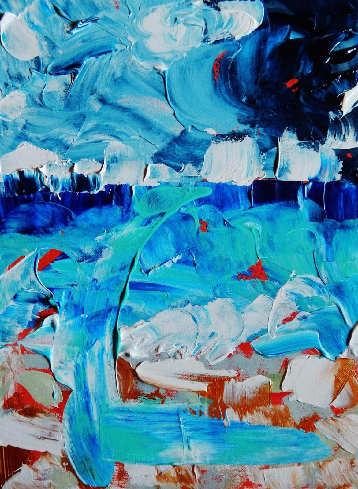 Patti Friday Beach Landscape Abstract Paintings Organic
