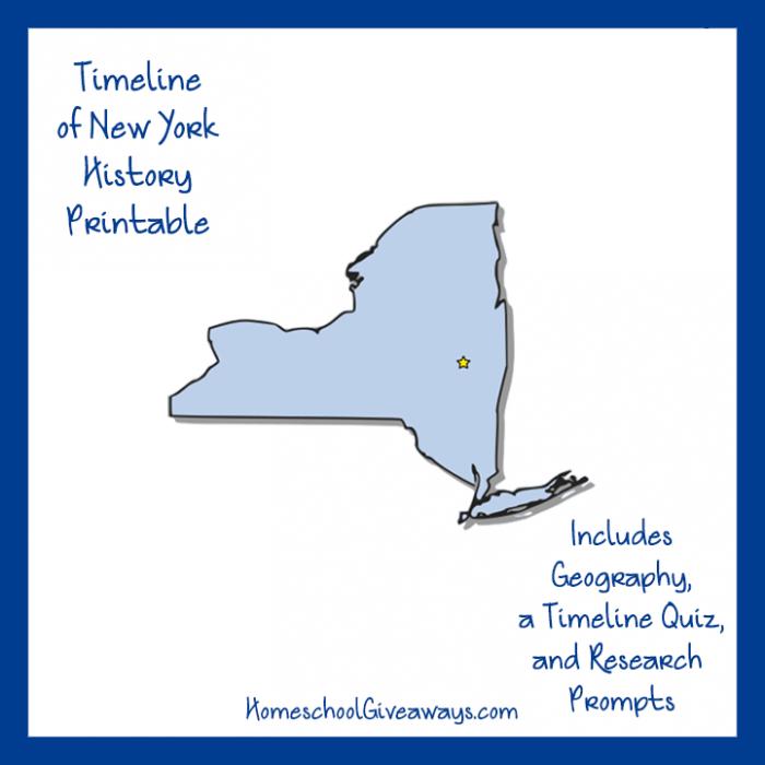 Free New York State History Printable Homeschool Giveaways Teaching Freebies State History Homeschool