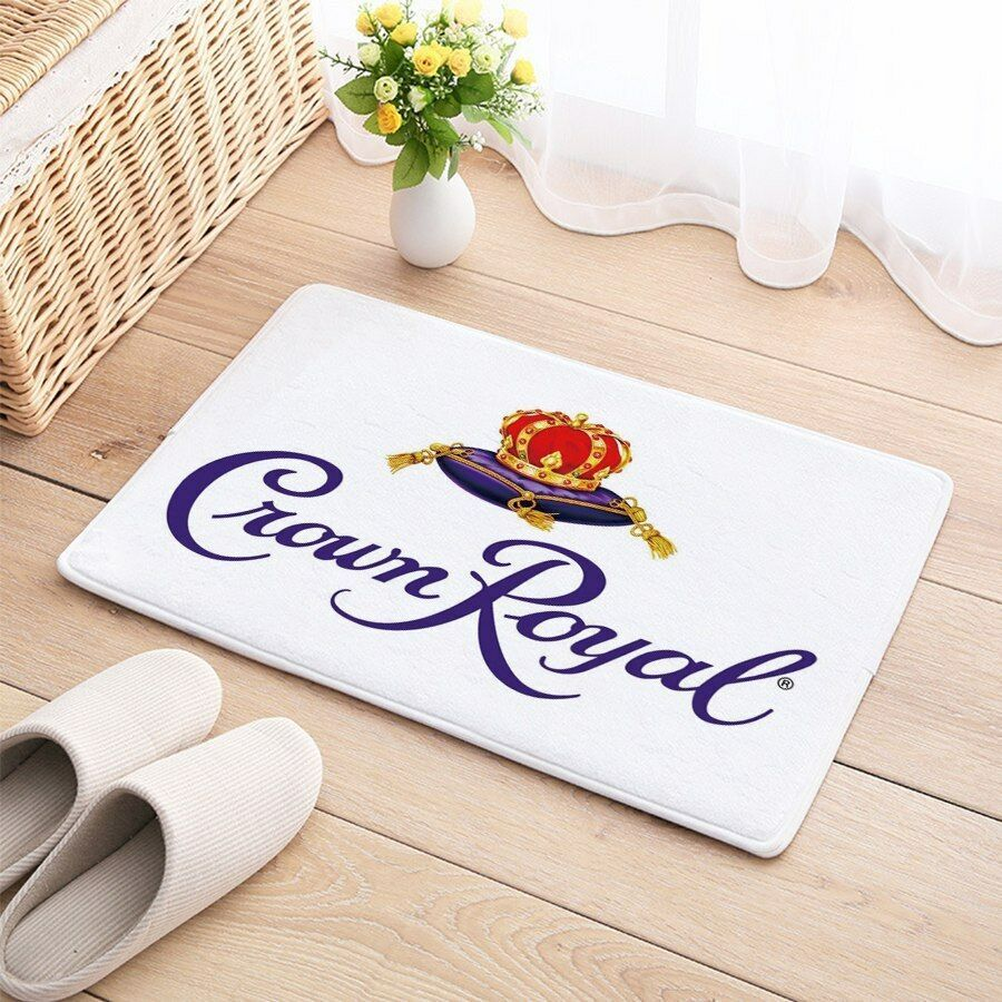 Carpet Mat Crown Royal Floor Cotton Door Anti Slip Whiskey Rug Unbrandedgeneric Carpet Mat Diy Custom Flooring