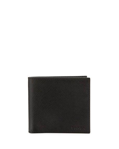 2a25974d PRADA Saffiano Leather Bi-Fold Wallet, Black. #prada # | Prada Men ...
