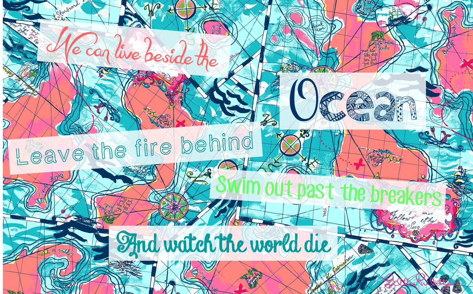 DIY Lilly Pulitzer Song Lyric Laptop Wallpapers
