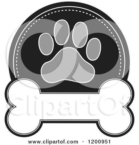 Royalty Free Rf Clipart Illustration Of A Border Of Dog Bone