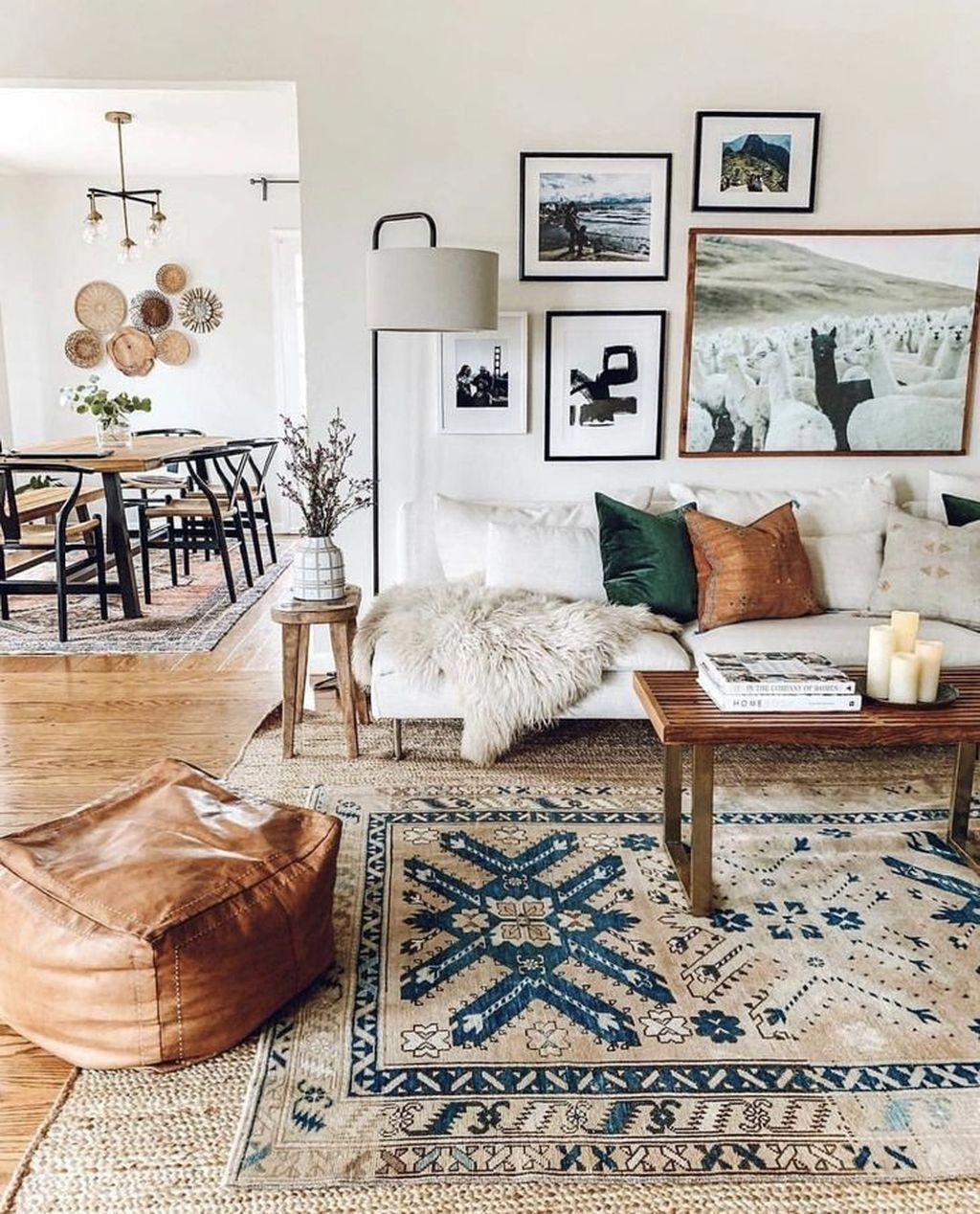 Love the white sofa + accents