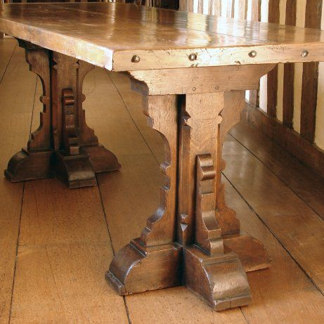 Trestle Table Medieval Furniture Tudor Decor Rustic Room