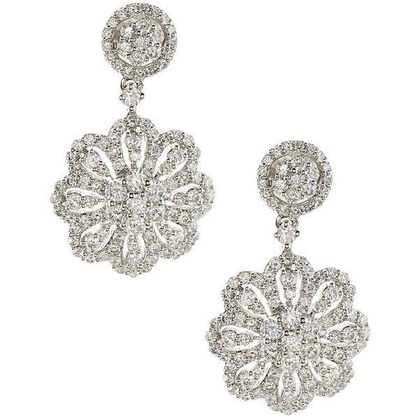 Diana M. Jewels 18k Round Diamond Drop Earrings XoO00m