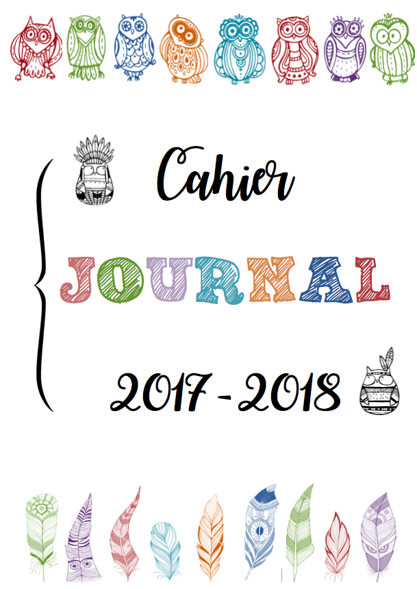 Cahier journal 2017 2018 couleurs ma kressezaza for Journal art et decoration