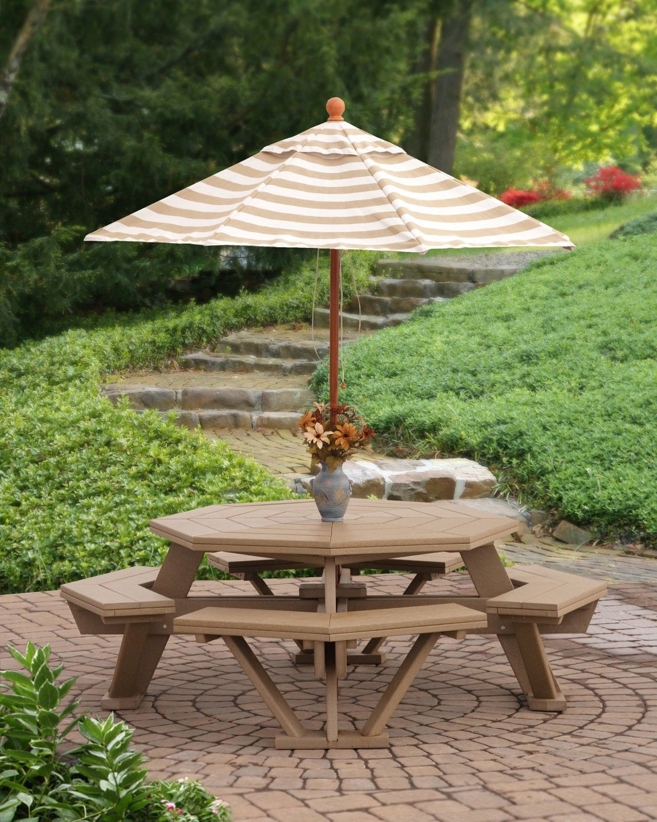 Finch Furniture 52 Poly Octagon Picnic Table With Benches