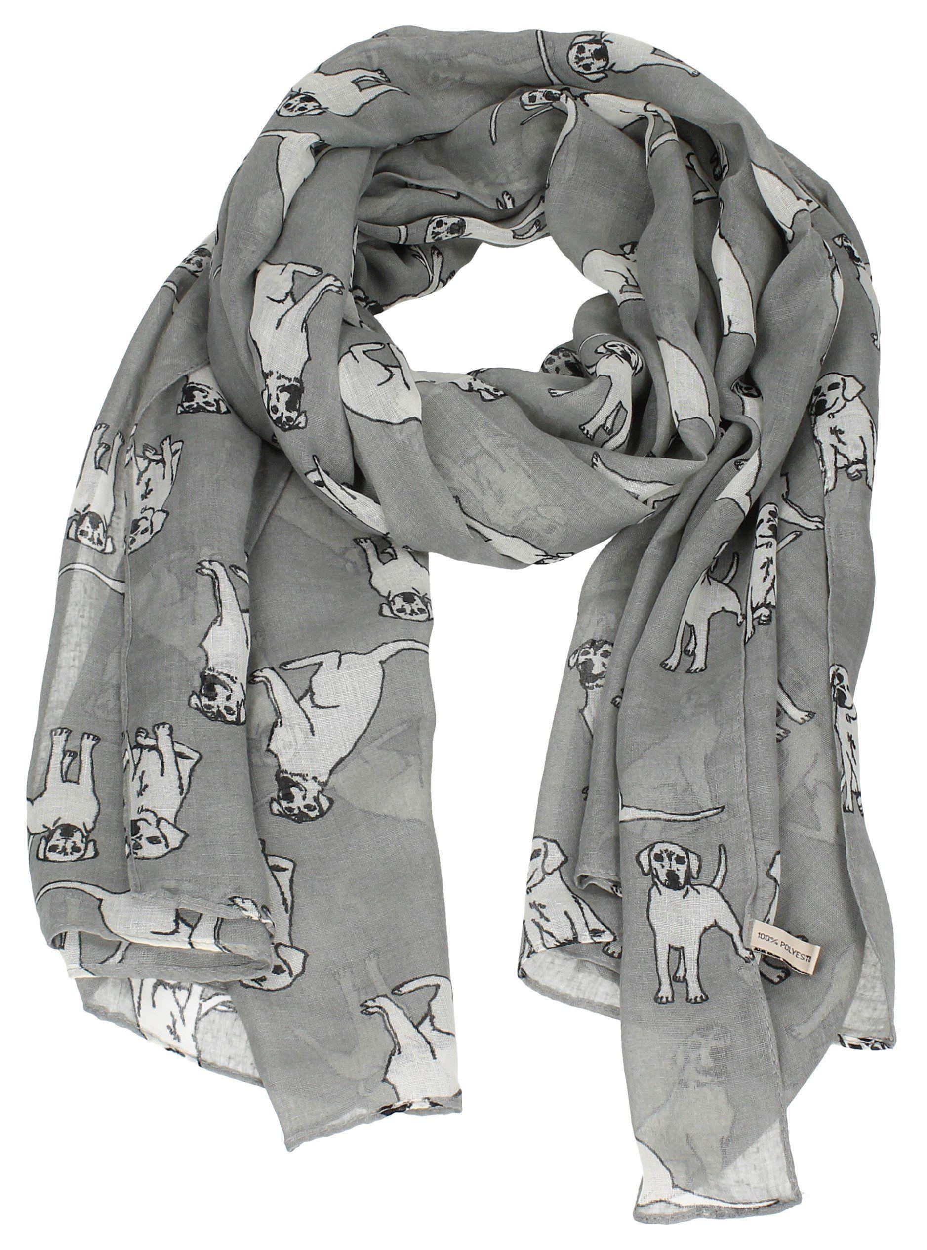 0965b2918 Reeva Labrador Dog Print Scarf Ladies Scarves Womens Designer Scarf ...