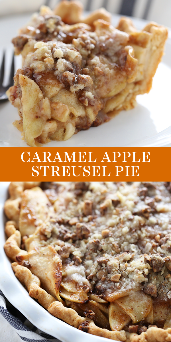 Caramel Apple Streusel Pie -   18 thanksgiving desserts for a crowd ideas