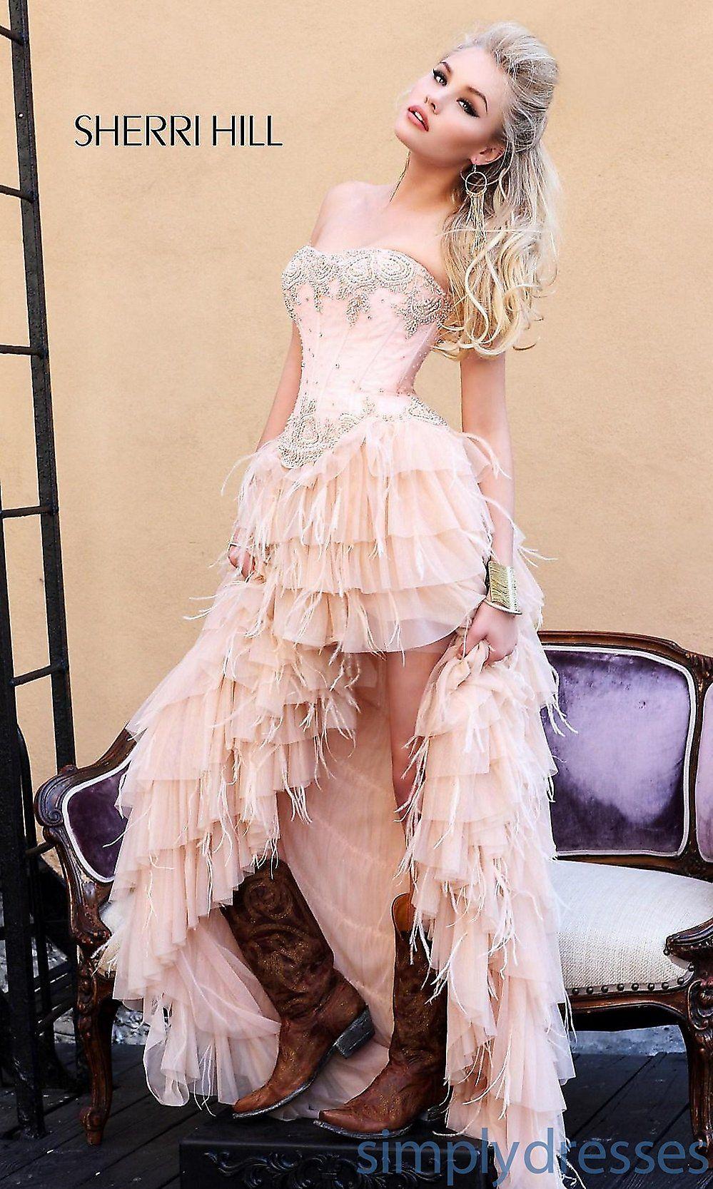 layered high low dress sherri hill-- bridesmaid dress? | Wedding ...