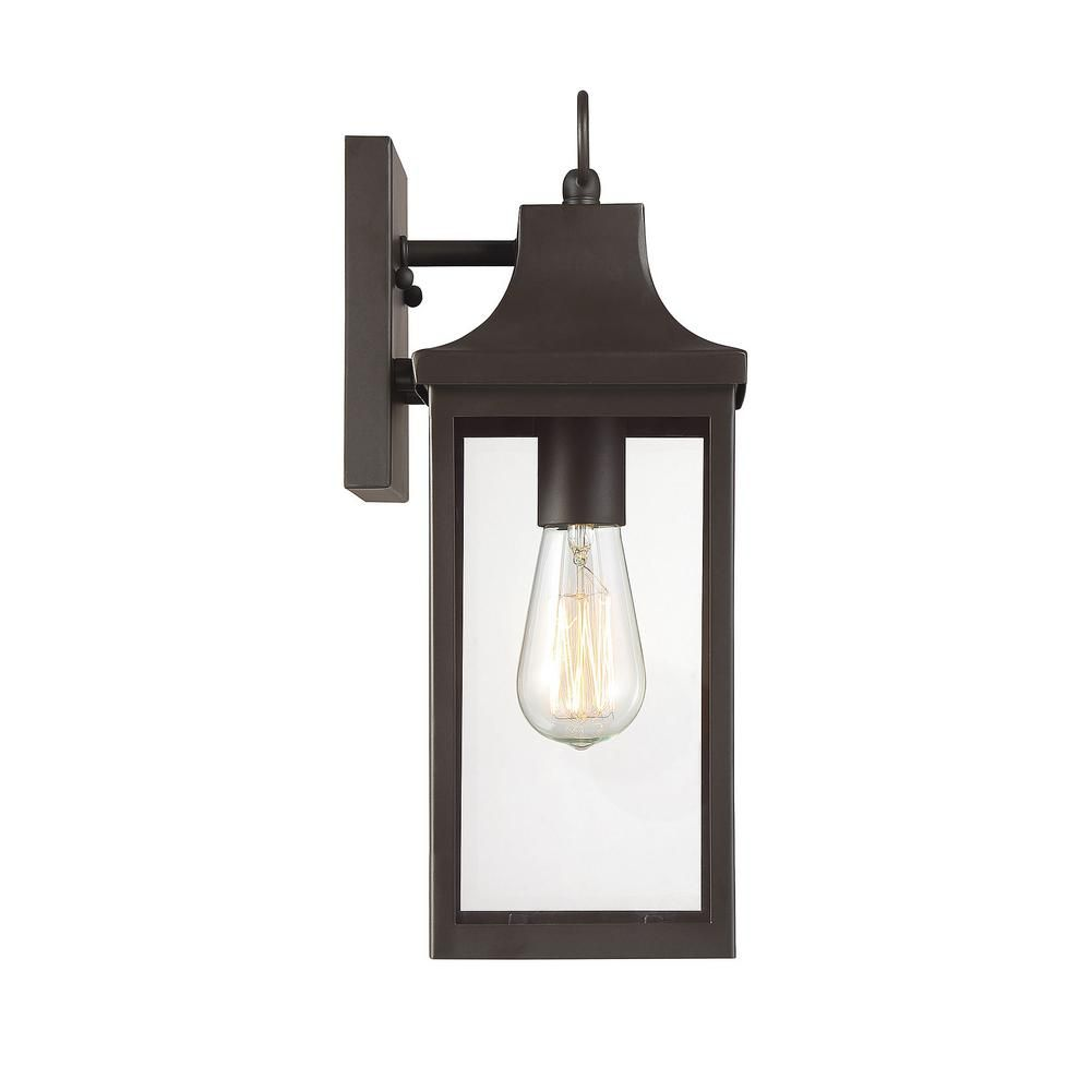 Filament Design 1 Light Oil Rubbed Bronze Outdoor Wall Lantern Sconce Cli Sh105172 The Home Depot In 2020 Outdoor Walls Outdoor Wall Lantern Wall Lantern