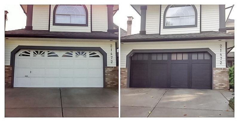 Painting Garage Door Before And After 3 In 2020 Garage Doors Garage Door Paint Garage Door Design