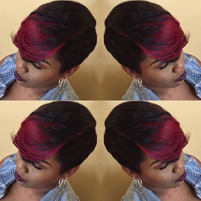 Top 100 hairstyles for black women photos #Plum is the #color of #fall. #popular #cutlife #americanbeauty #hypehair #essencehair #mobhair #chicagogram #chicagohair #chicagohairstylist #hairstyles #hairstylesforblackwomen #shorthairforblackwomen #autumn #fallhair #colorist #blondehairforblackgirls #haircutsforwomen #plumhair See more http://wumann.com/top-100-hairstyles-for-black-women-photos/