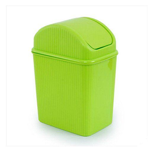 Wakerda Desktop Mini Trash Bin Cute Mini Desk Rubbish Bin for Home Living Room Kitchen Bedroom Bathroom Office