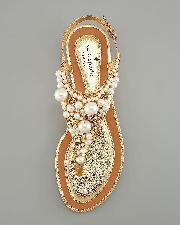 1bb5c9f9841 kate spade new york imani bead   crystal thong sandal - Neiman Marcus