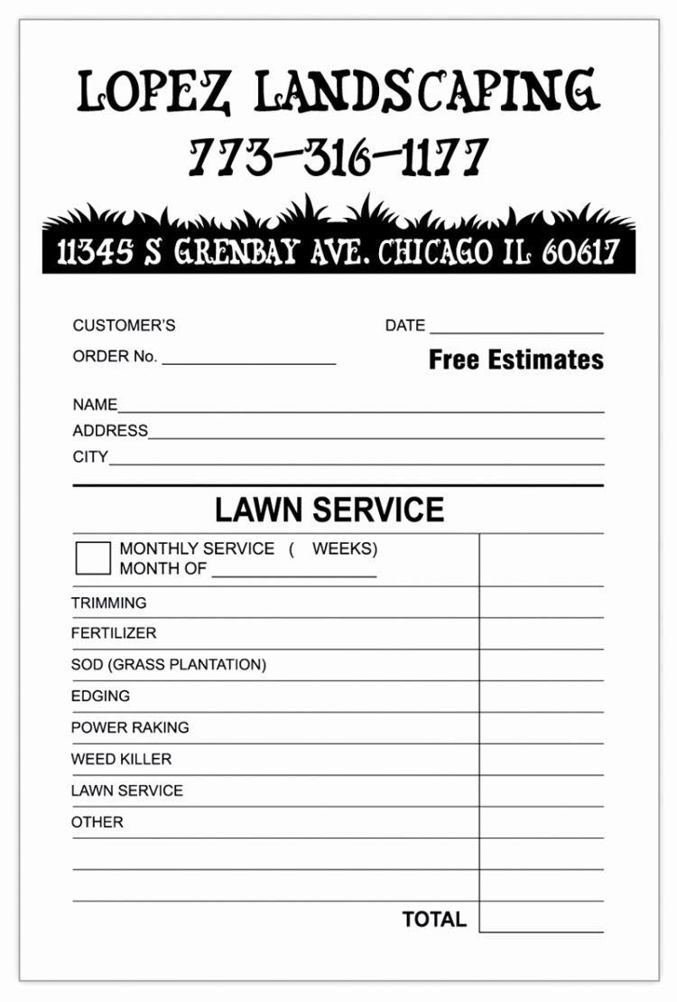 25 Landscaping Invoice Template Free in 2020 Invoice