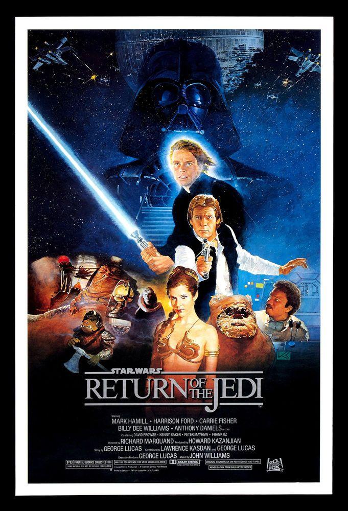 Star Wars Return Of The Jedi Fridge Magnet 6x8 Movie Poster On A Magnetic Canvas Mejores Carteles De Peliculas Peliculas De Culto Poster De Cine