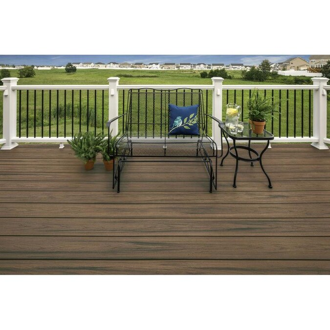 Veranda Armorguard 1 In X 5 1 4 In X 20 Ft Seaside Gray Grooved Edge Capped Composite Decking Board 10 Pack Brd Composite Decking Building A Deck Diy Deck