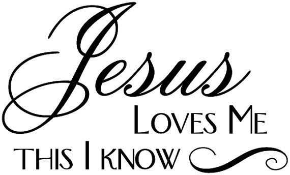 Jesus Loves Me This I Know Wall Decal | Christian Vinyl Wall Art  sc 1 st  Pinterest & Jesus Loves Me This I Know Wall Decal | Christian Vinyl Wall Art ...