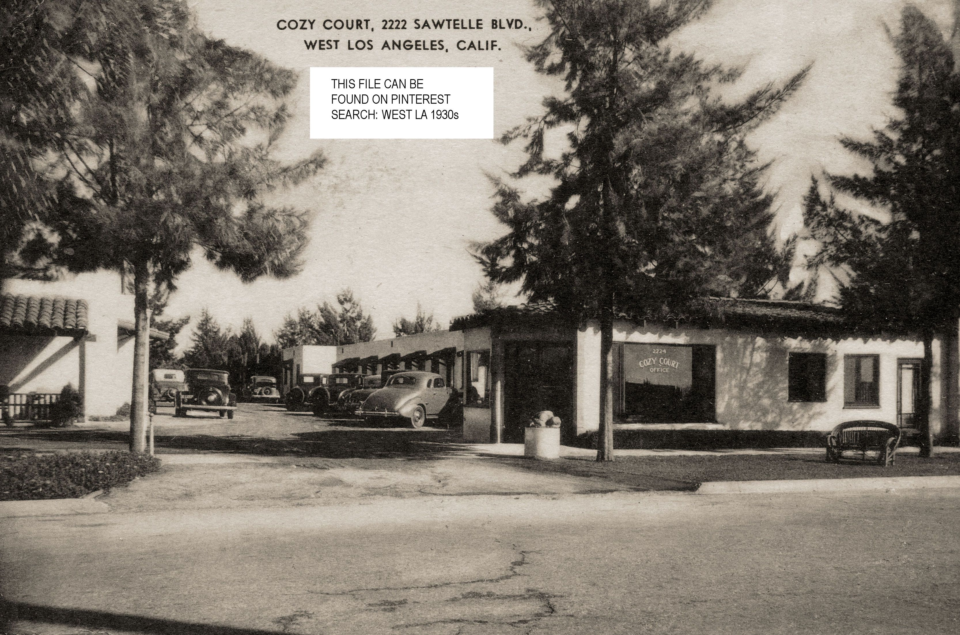 Cozy Court Located At 2222 Sawtelle Blvd In West La This Picture Is Dated 1947 The Cozy Court Was Loca Vintage Los Angeles West Los Angeles Los Angeles Area