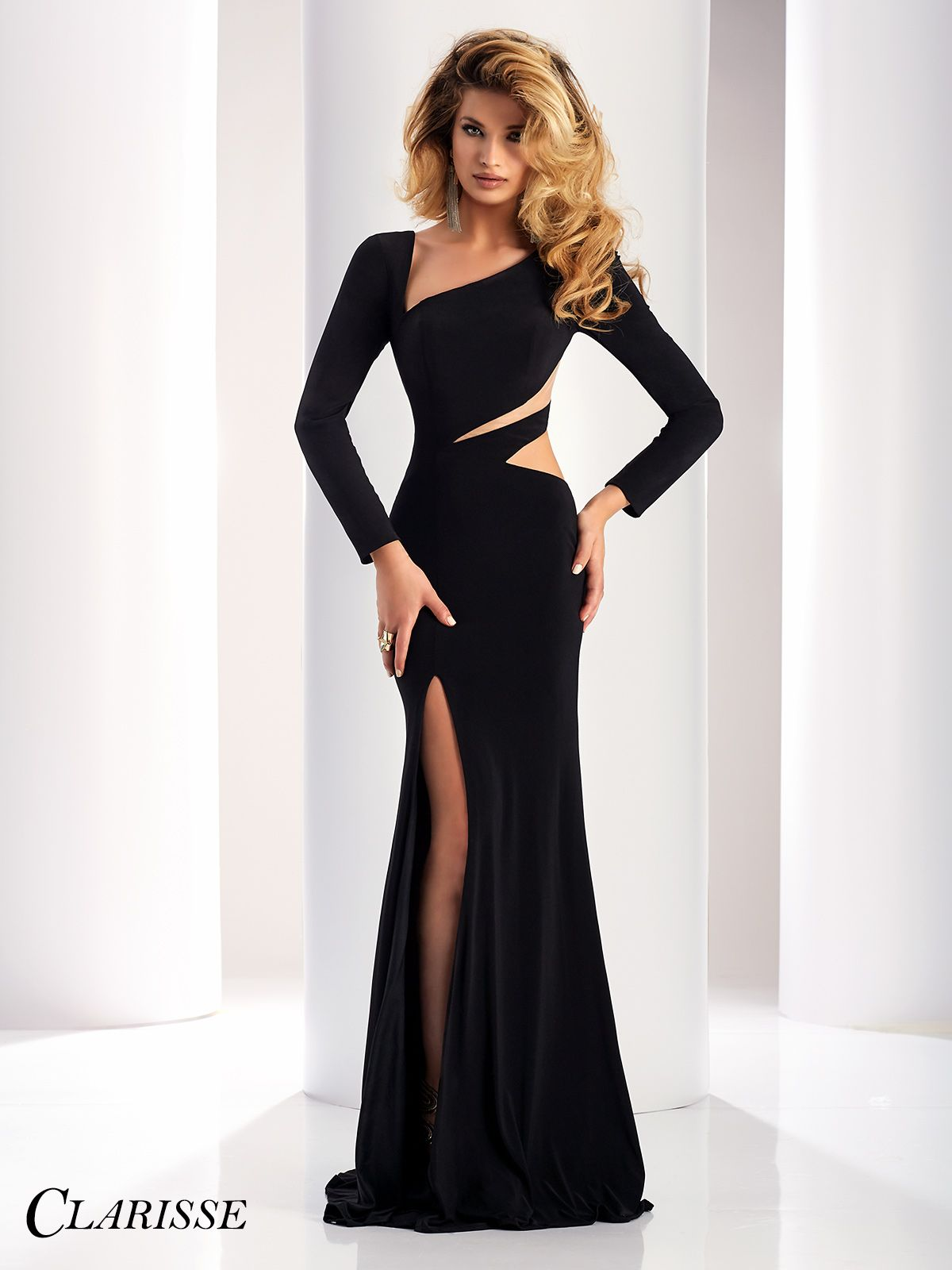 Clarisse Long Sleeve Cutout Detail Dress 4859 | Dresses | Pinterest ...