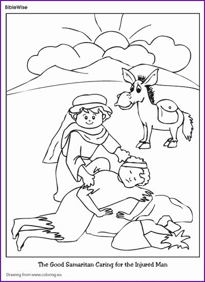 32 the Good Samaritan Coloring Page in 2020 (With images