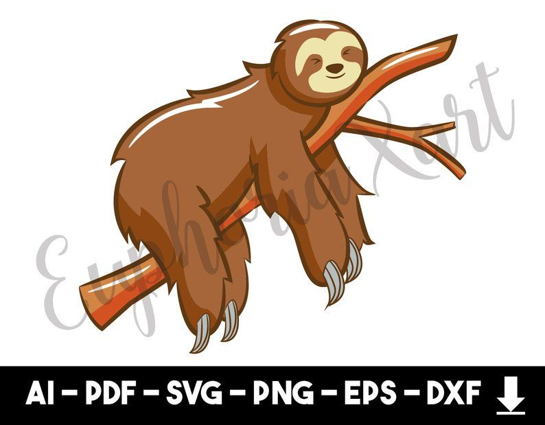 15+ Sloth Clipart Black And White