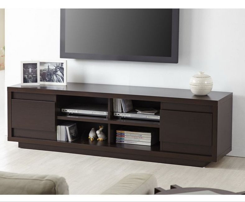Modern Entertainment Center Wooden TV Stand Media Game Console Storage  Cabinet #Modern