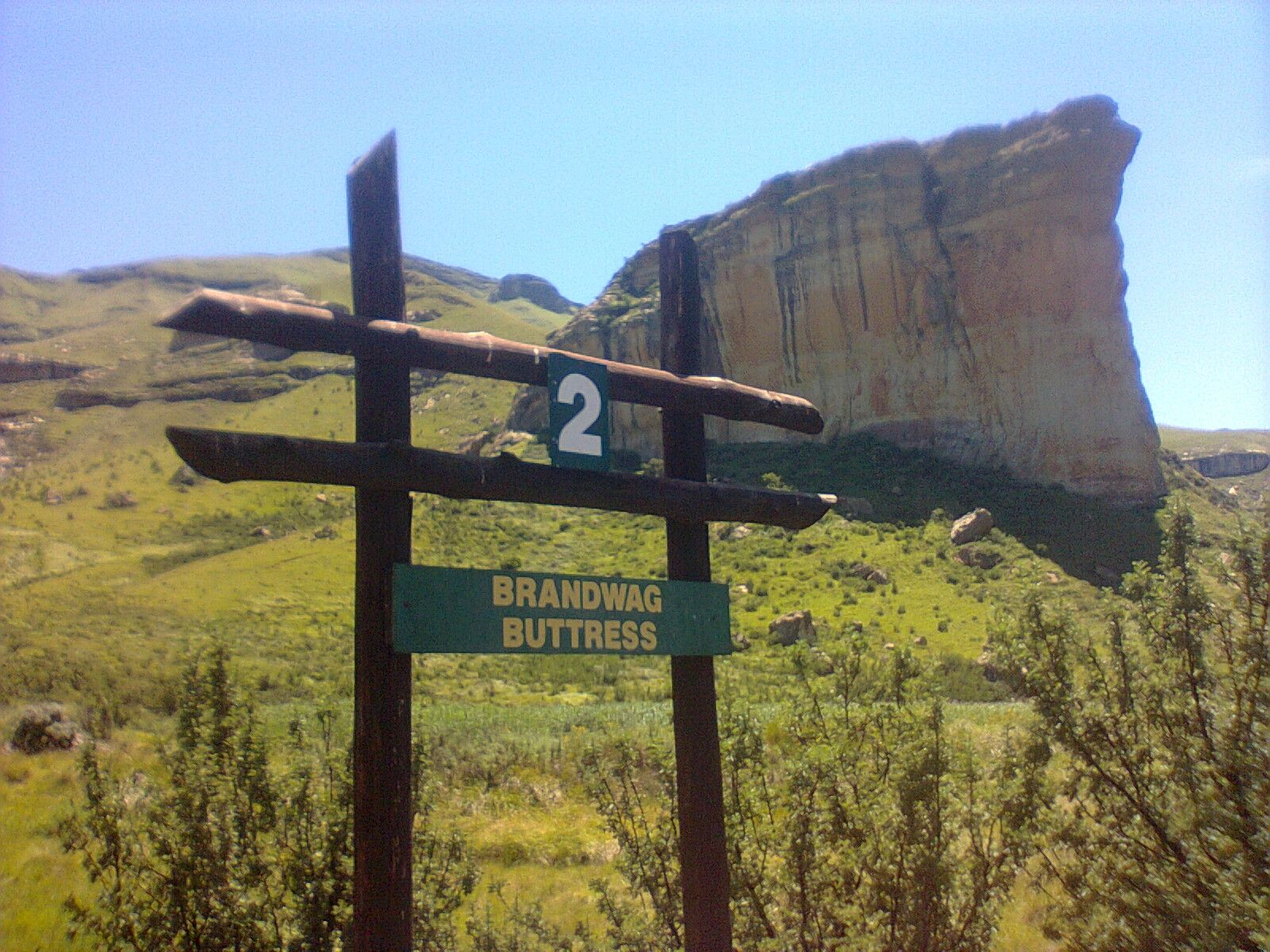 brandwag mountain trial at Golden gate nature reserve near Clarens in the Freestate, SA