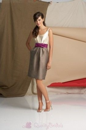 V neck Sleeveless Cocktail length Chameleon Bridesmaid Dress B1351  $149.99