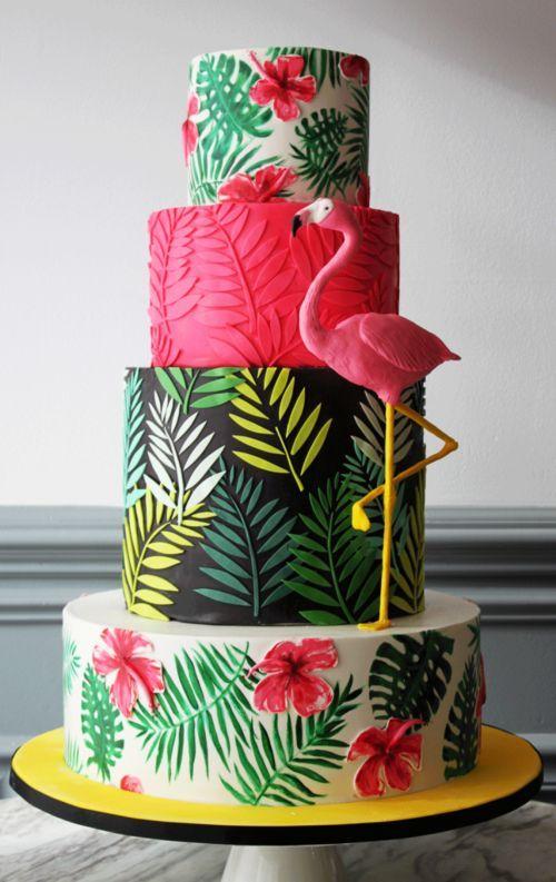 Spaß-Flamingo-Kuchen -  #flamingo #kuchen #SpaßFlamingoKuchen #tropicalbirthdayparty