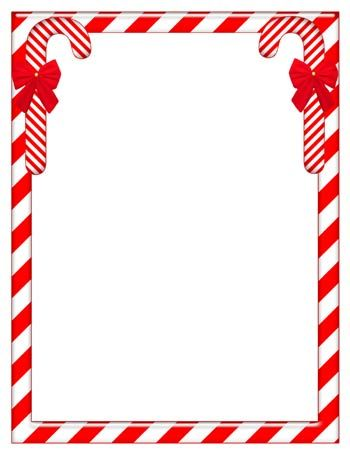 Printable Christmas Stationary - Candy Canes | Bordas | Pinterest ...