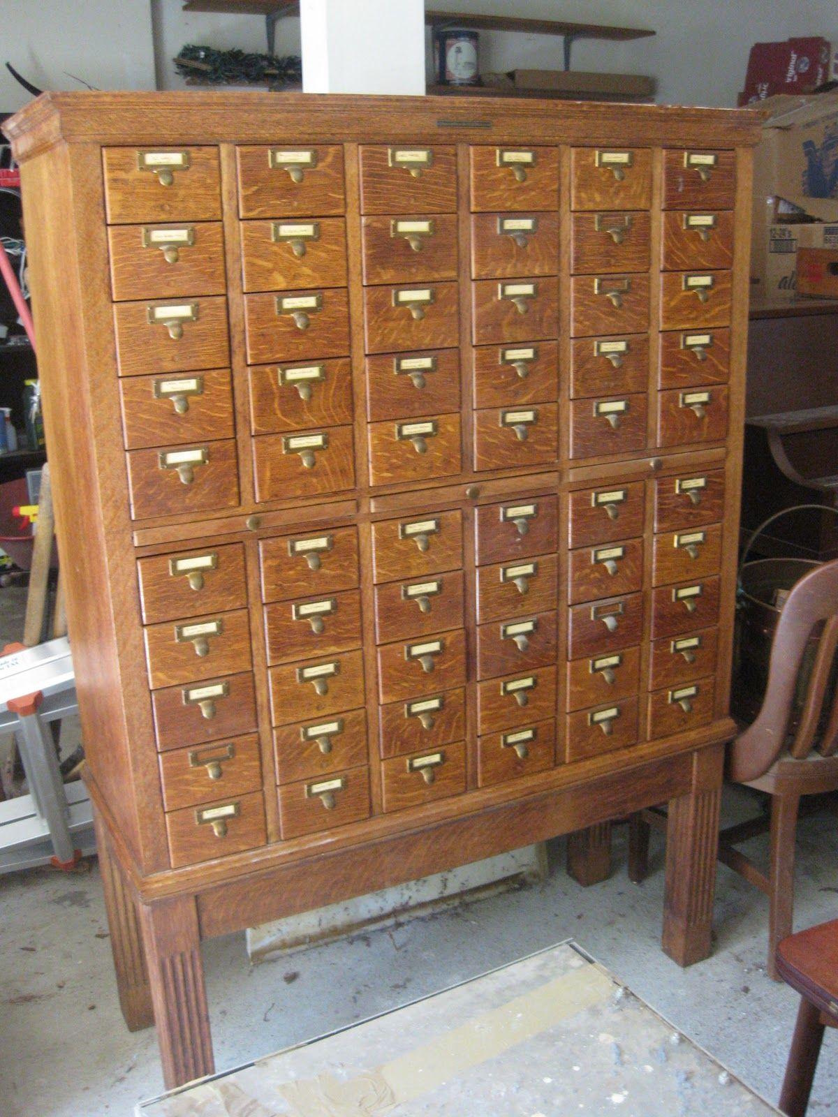 Library Bureau Sole Makers Cabinet