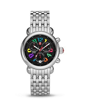 Michele Carousel Black Dial Day Watch