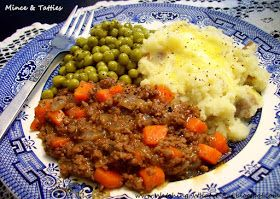 Mince & Tatties ~ a favorite Scottish meal introduced to my family by our Scottish friends that's visited when I was about 7 years old.