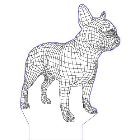 French Bulldog 3d Illusion Vector File For Cnc 3d Illusions 3d Illusion Art Drawings
