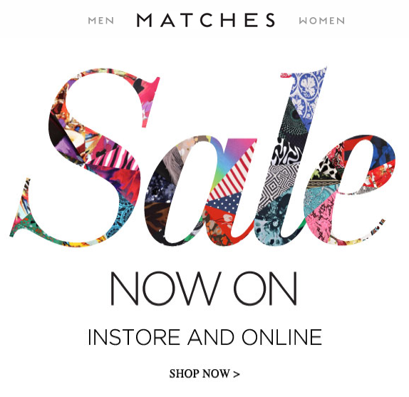 Sale with products and textures within it.
