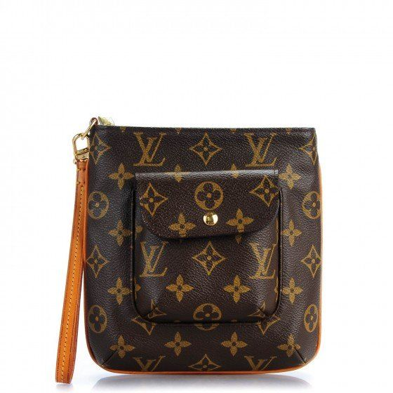 ecae877cfdc7 This is an authentic LOUIS VUITTON Monogram Partition Wristlet. This  stylish wristlet is finely crafted