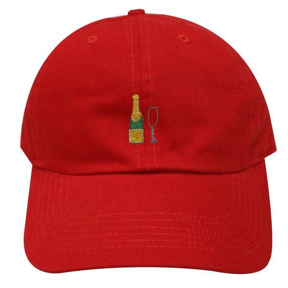 6054e39ea5f Capsule Design Champagne Cotton Baseball Cap Red