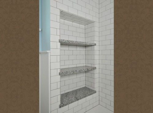 Multi Shower Shampoo Niche Shelf Shower Niche Craftsman Bathroom Shower Shelves