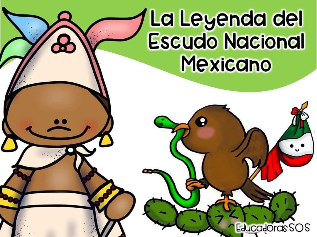 Leyenda Del Escudo Nacional Mexicano En 2020 Escudo Mexicano Escudo Leyendas