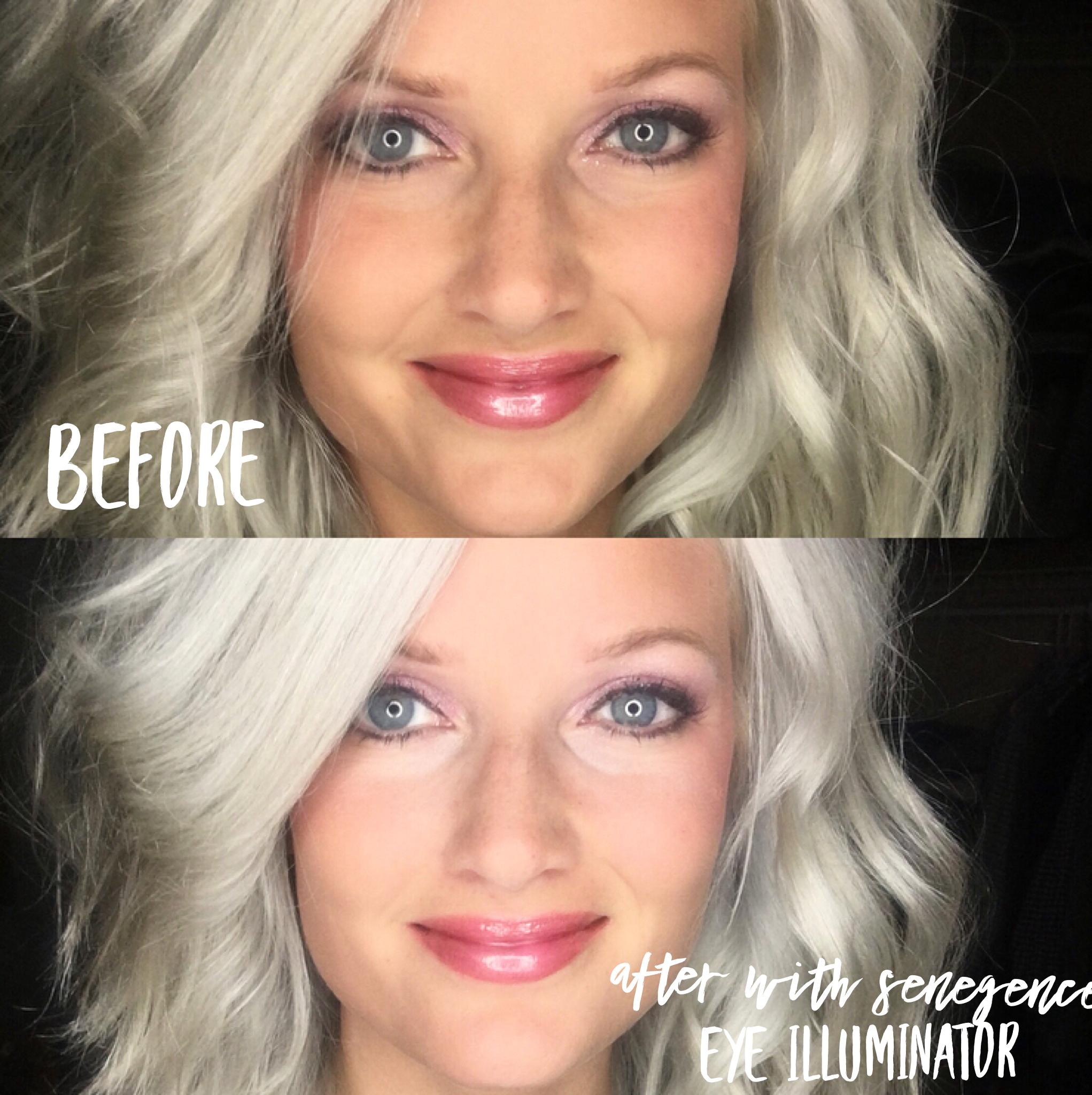 Before And After Senegence Eye Illuminator Senegence Skin