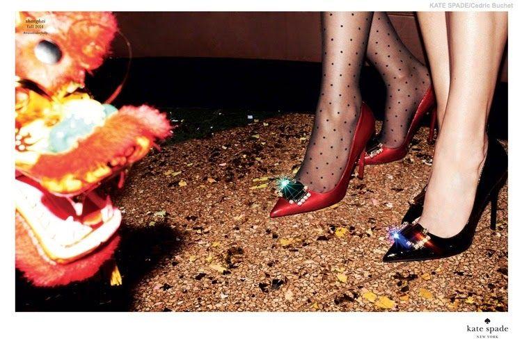 Ming Xi de fiesta, con los diseños de Kate Spade New York