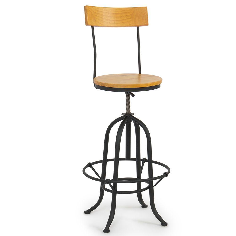 Rustic Bar Stools Vintage Industrial Wood Adjustable Seat Kitchen Rustic Design Onebigoutlet Vintagebarstools Rustic Bar Stools Vintage Bar Stools Modern Bar