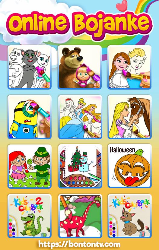 Online bojanke - bojanke za decu - igrice za decu - dječje