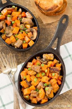 Sweet Potato and Sausage Hash is a tasty side dish for any breakfast or brunch!